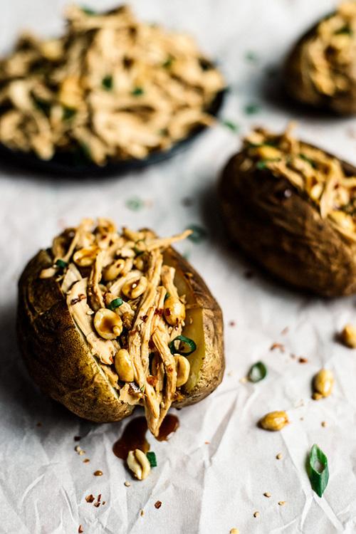 Kung Pao Chicken Stuffed Potatoes; © 2016 Lisa Lin, Healthy Nibbles and Bits