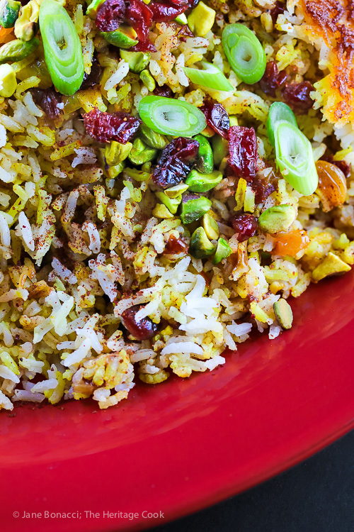 Persian-Style Jeweled Rice © 2016 Jane Bonacci, The Heritage Cook