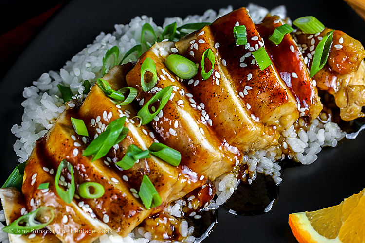 Morimoto's Chicken Teriyaki © 2021 Jane Bonacci, The Heritage Cook