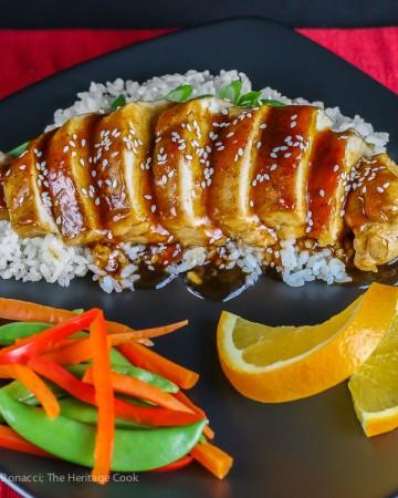 Chef Morimoto's Tare No Teriyaki (Chicken Teriyaki) Gluten-Free; © 2016 Jane Bonacci, The Heritage Cook