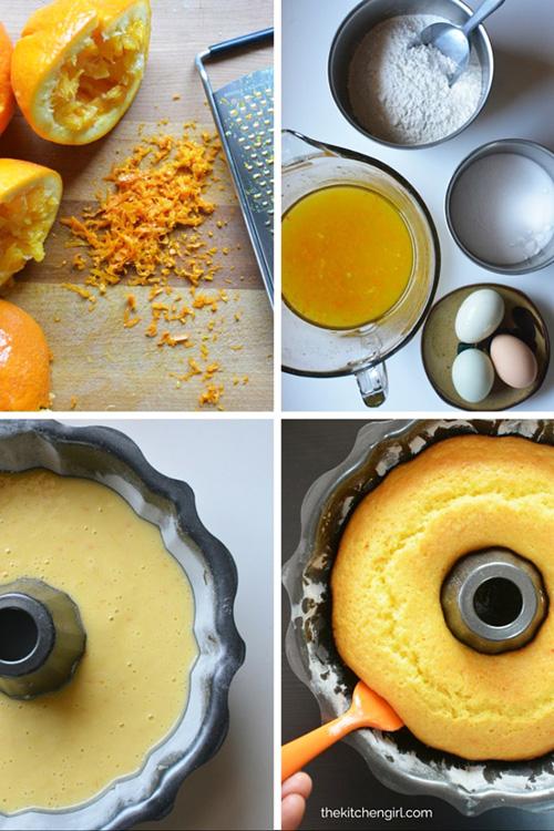 Easy Orange Bundt Cake with Dark Chocolate Ganache © 2016 Traci Antonovich, The Kitchen Girl