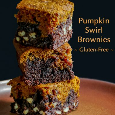 Gluten Free Pumpkin Swirl Brownies #SecretRecipeClub