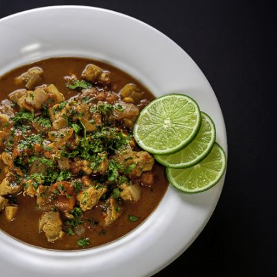 Gluten Free Spicy Chicken, Chile, Chocolate Soup