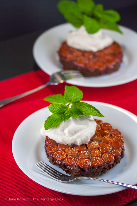 Individual Black Forest Upside Cakes, Gluten-Free; 2016 Jane Bonacci, The Heritage Cook