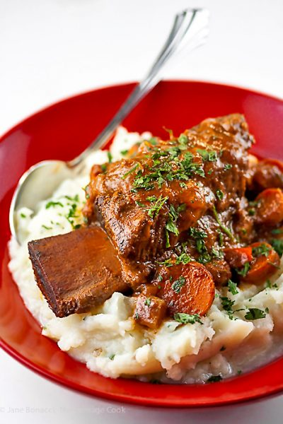Luscious Braised Short Ribs with Garlic Mashed Potatoes (Gluten-Free)