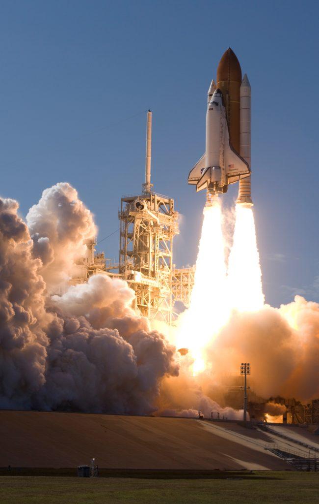 Shuttle Rocket Launch