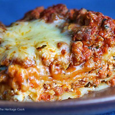 Classic Meat Lasagna (Gluten-Free)