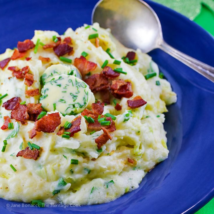 Bacon and Leek Irish Colcannon (Gluten-Free)