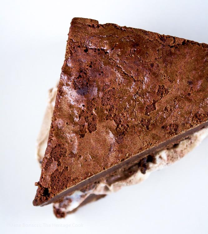 Port Brownie Ice Cream Sandwiches © 2017 Jane Bonacci, The Heritage Cook