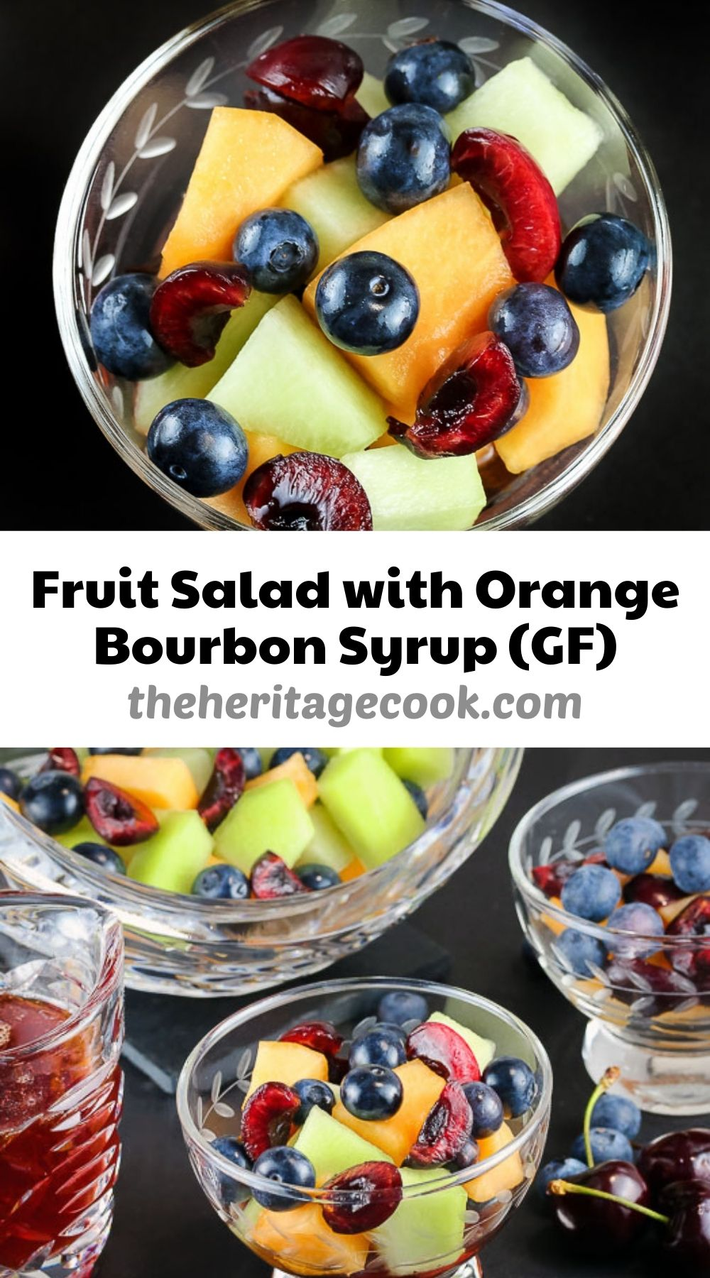 Fresh Fruit Salad with Orange Bourbon Syrup (Gluten-Free) © 2021 Jane Bonacci, The Heritage Cook.