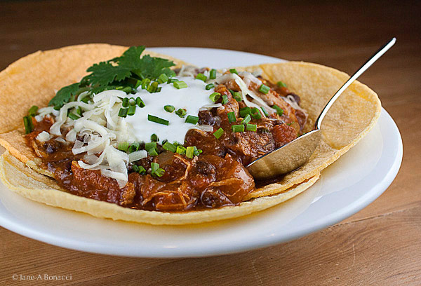 New Mexican Green Chili Chicken Stew © 2017 Jane Bonacci, The Heritage Cook