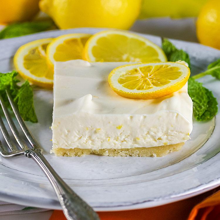 The Most Refreshing Frozen Lemon Bars © 2017 Jane Bonacci, The Heritage Cook