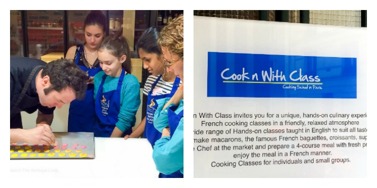 Kids learning how to make macarons; Cooking Classes in Paris at Cook'n with Class cooking school © 2017 Jane Bonacci, The Heritage Cook