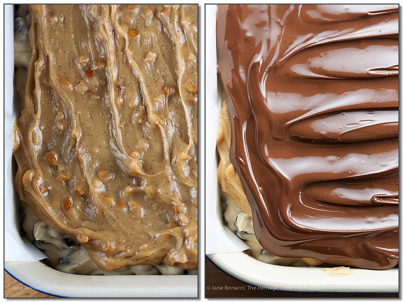 Chocolate Chip Peanut Butter Fudge Squares © 2017 Jane Bonacci, The Heritage Cook