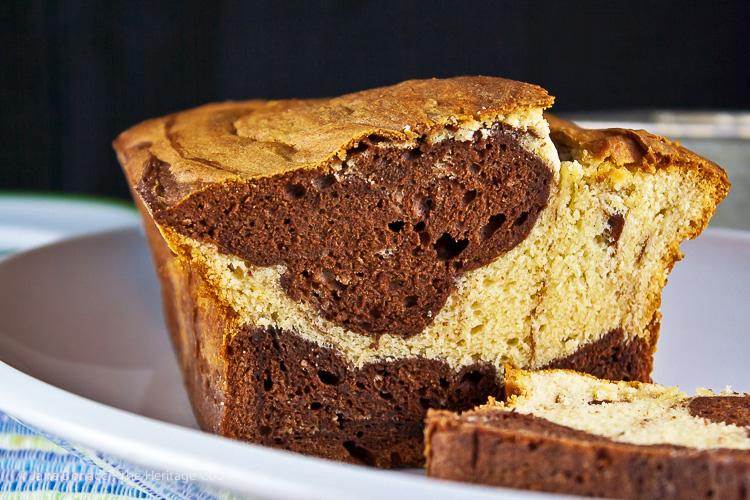 Swirled Chocolate Loaf Cake © 2017 Jane Bonacci, The Heritage Cook