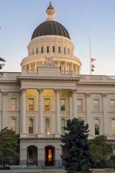 California state capital, Sacramento; IFBC Is Right Around the Corner 2017 Jane Bonacci, The Heritage Cook