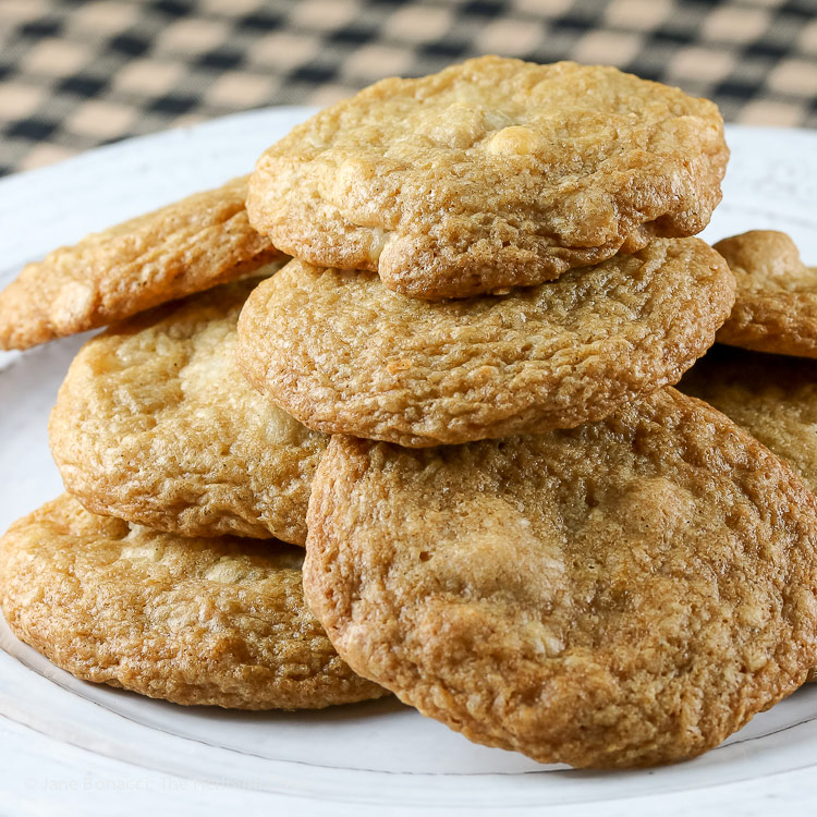 Macadamia Nut White Chocolate Chip Cookies © 2017 Jane Bonacci, The Heritage Cook