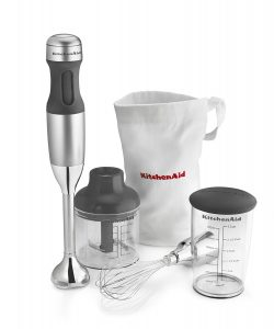 KitchenAid Immersion Blender Set; 2017 Holiday Gift List for Cook from The Heritage Cook; Jane Bonacci, The Heritage Cook