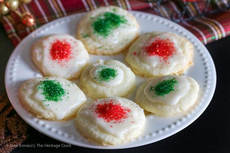 White Chocolate Glazed Shortbread Cookies (Gluten-Free) © 2017 Jane Bonacci, The Heritage Cook