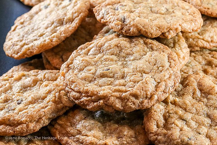 Chocolate Chip Almond Joy Cookies © 2018 Jane Bonacci, The Heritage Cook