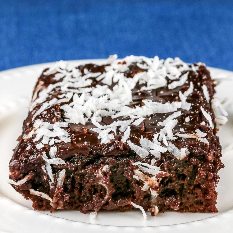 Root Beer Chocolate Cake with Root Beer Glaze © 2018 Jane Bonacci, The Heritage Cook