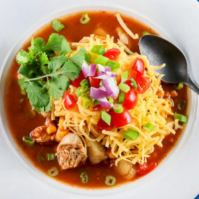 Instant Pot Chicken Enchilada Soup (Gluten-Free)