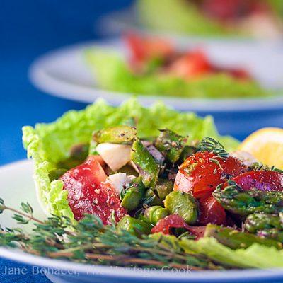 Asparagus Salad with Lemon Vinaigrette (Gluten Free)