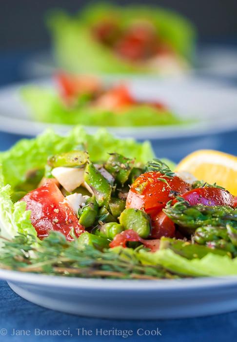 Asparagus Salad with Lemon Vinaigrette © 2018 Jane Bonacci, The Heritage Cook
