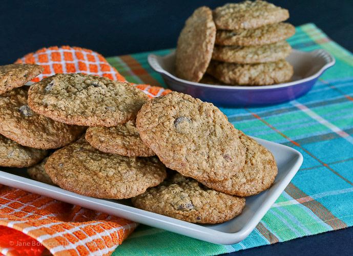 Oatmeal Chocolate Chip Pecan Cookies © 2018 Jane Bonacci, The Heritage Cook