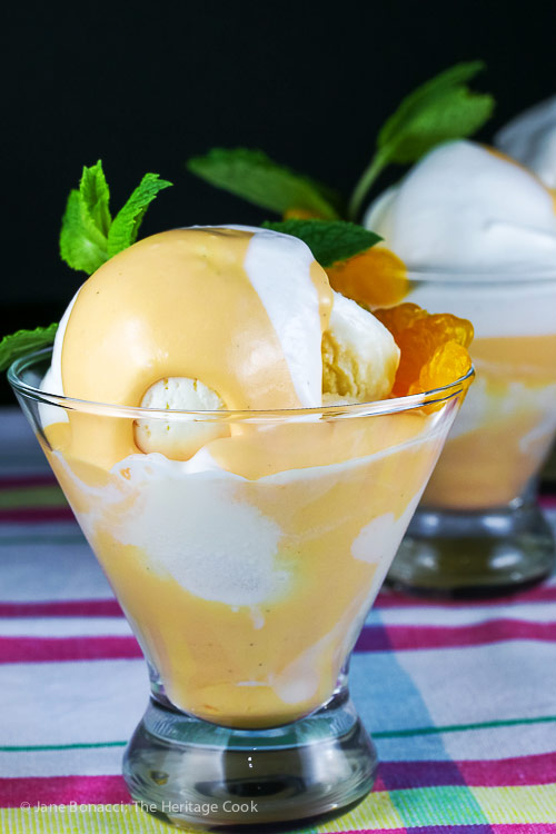 Close up of Orange Creamsicle Mousse Parfaits © 2018 Jane Bonacci, The Heritage Cook