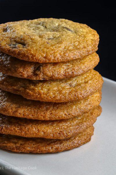 Vanilla Kissed Chocolate Chip Cookies (Gluten Free) © 2018 Jane Bonacci, The Heritage Cook