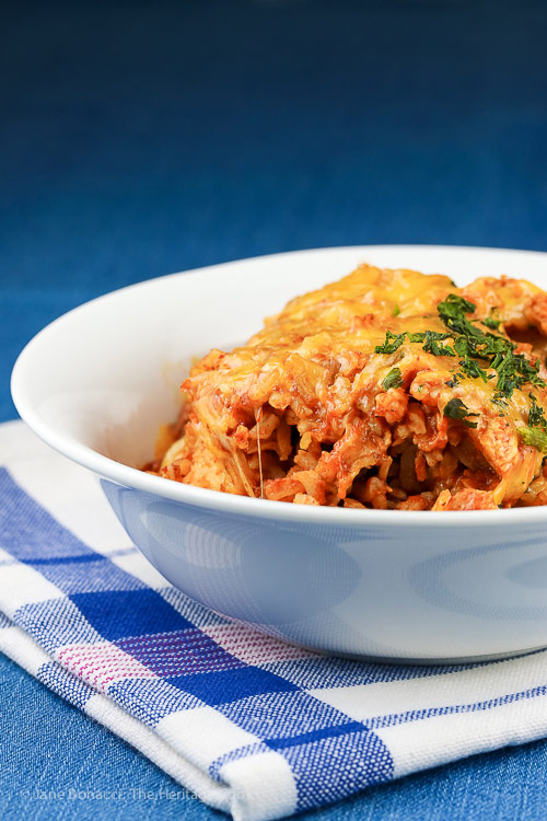 Instant Pot Chicken Enchilada Rice Casserole © 2018 Jane Bonacci, The Heritage Cook