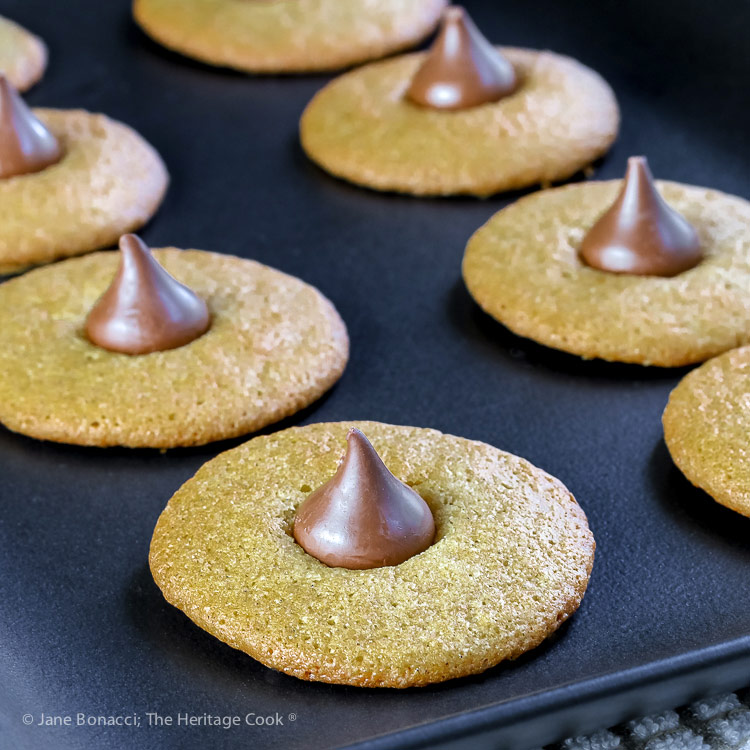 platter of finished cookies; Gluten Free Chocolate Kiss Cookies © 2018 Jane Bonacci, The Heritage Cook