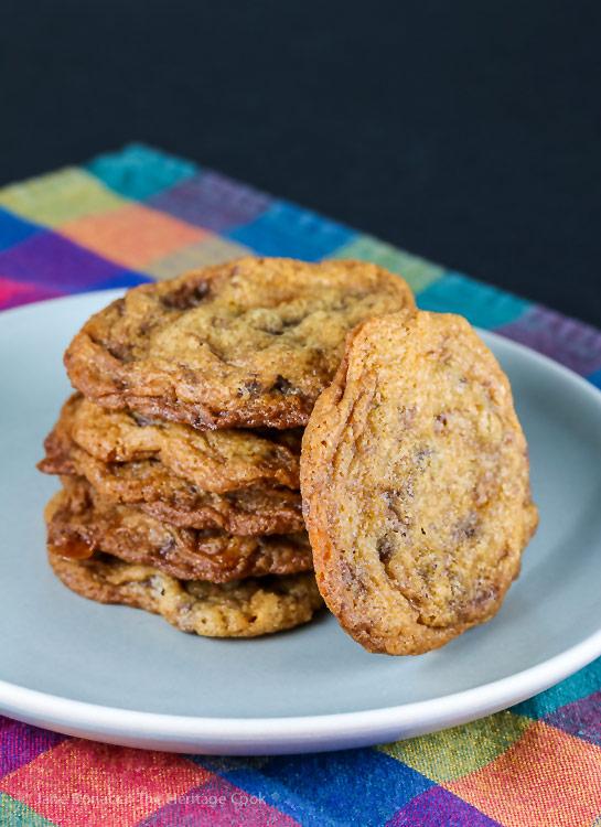 Butterfinger Chocolate Chip Cookies © 2018 Jane Bonacci, The Heritage Cook