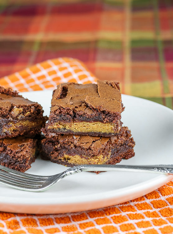 Peanut Butter Cup Stuffed Reese's Brownies © 2018 Jane Bonacci, The Heritage Cook