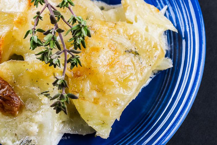 Holiday Creamy Cheesy Potatoes © 2018 Jane Bonacci, The Heritage Cook