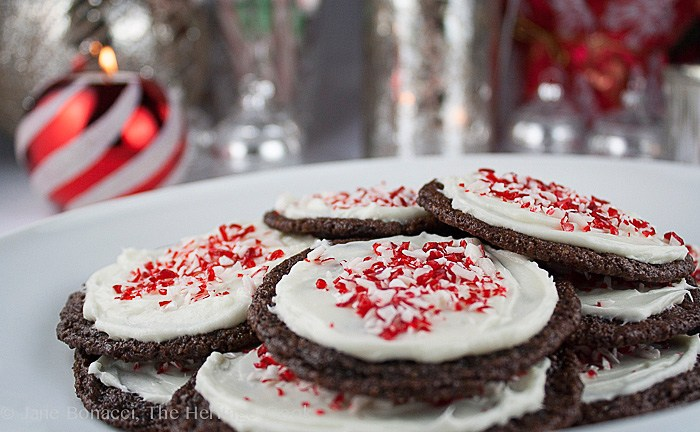 Chocolate Peppermint Sugar Cookies; Top 15 Most Popular Chocolate Monday Recipes from The Heritage Cook 2018 Jane Bonacci, The Heritage Cook