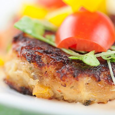 Crab Cakes with Thai Lemongrass Sauce (Gluten Free)