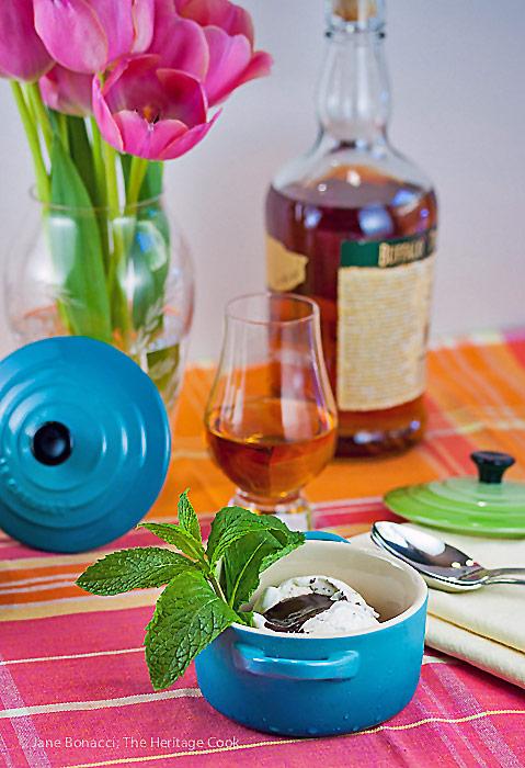 Derby Sundaes with Chocolate Bourbon Sauce © 2019 Jane Bonacci, The Heritage Cook