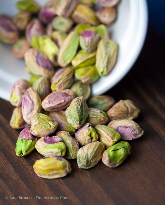 bowl of pistachios © 2019 Jane Bonacci, The Heritage Cook