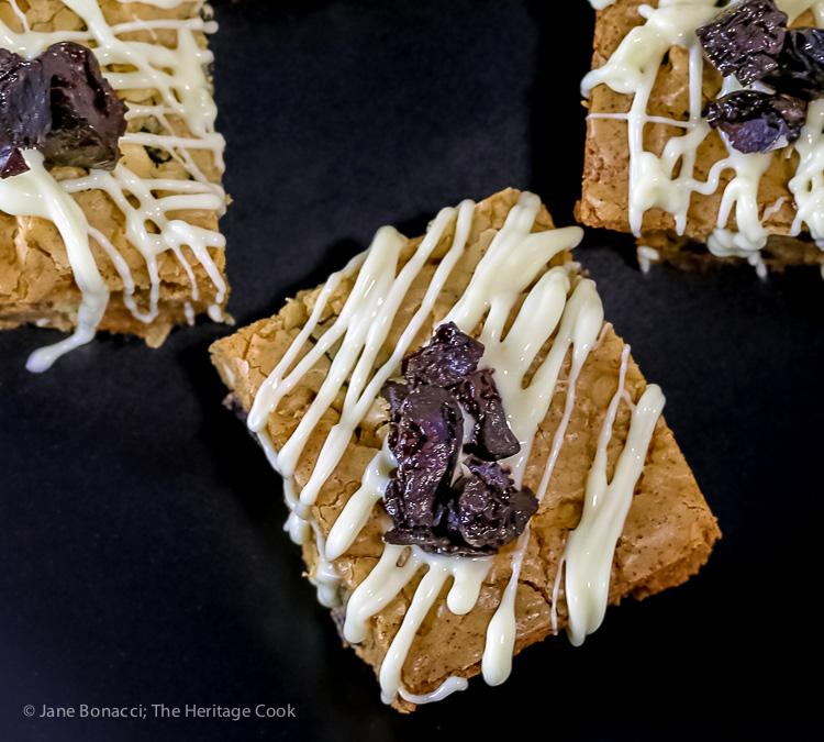 White Chocolate Cherry Blondies © 2019 Jane Bonacci, The Heritage Cook
