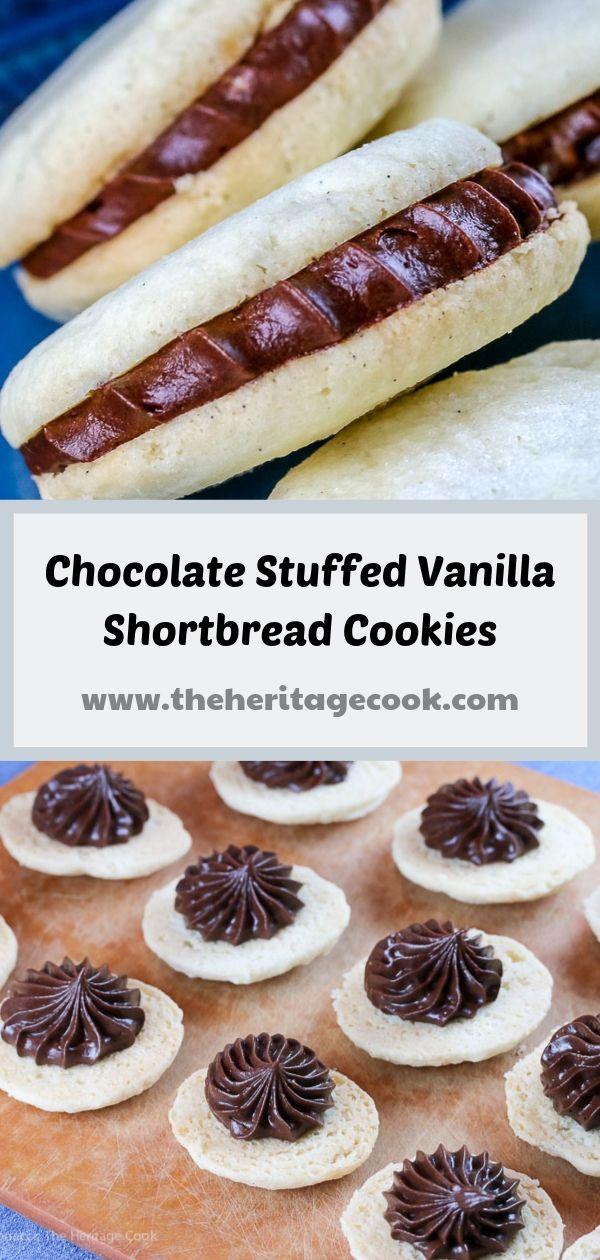 Chocolate Stuffed Vanilla Shortbread Cookies (Gluten-Free) © 2019 Jane Bonacci, The Heritage Cook