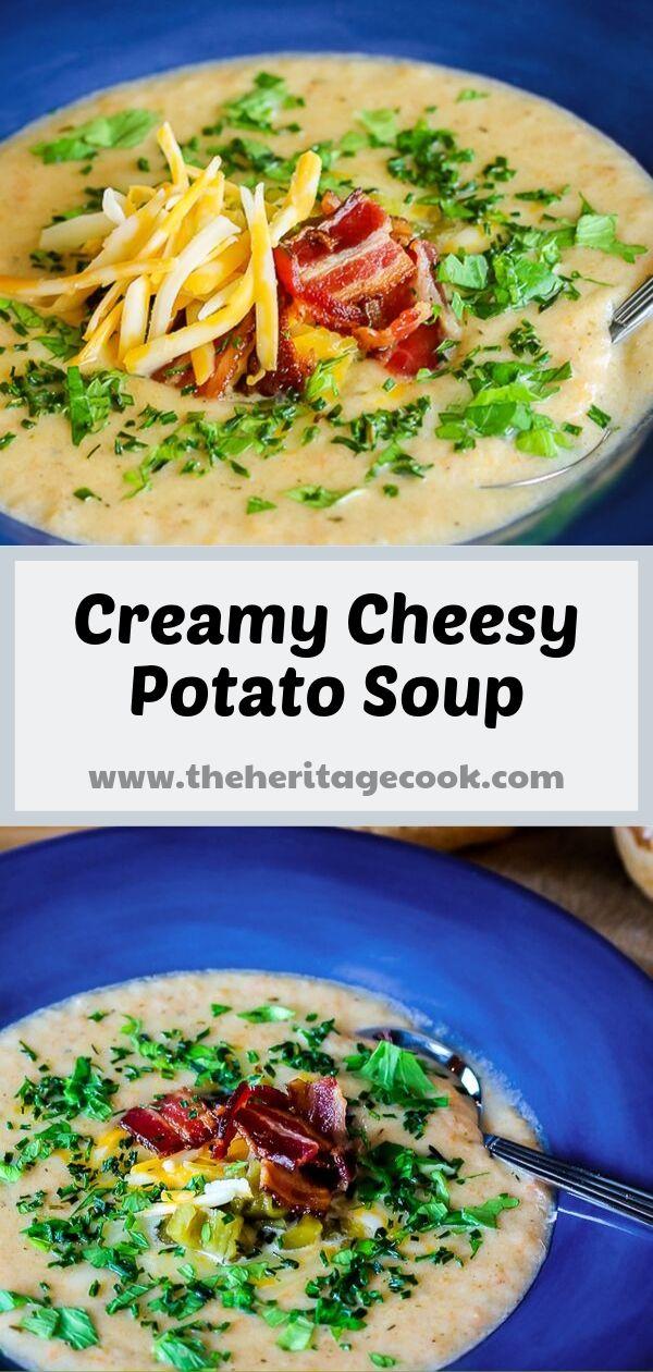 Creamy Cheesy Potato Soup; © 2019 Jane Bonacci, The Heritage Cook