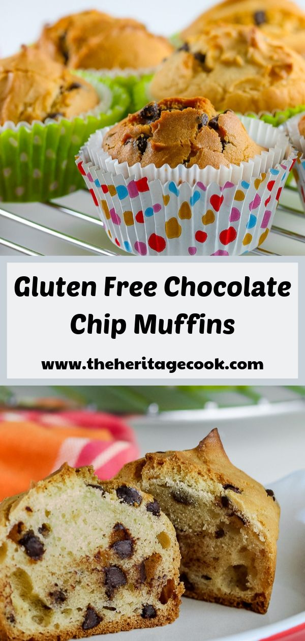 Gluten Free Chocolate Chip Muffins © 2019 Jane Bonacci, The Heritage Cook