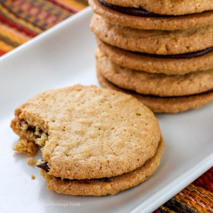 Peanut Butter Ganache Sandwich Cookies (Gluten Free)