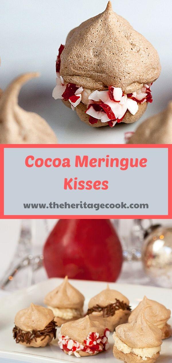 Cocoa Meringue Kisses; ©2019 Jane Bonacci, The Heritage Cook