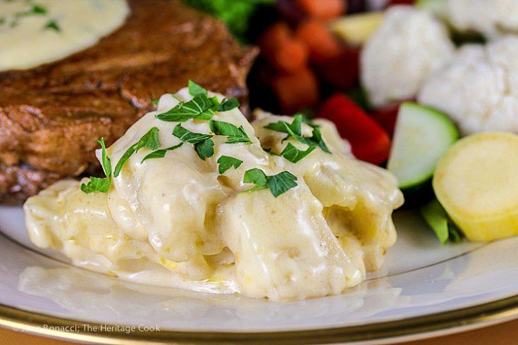 Creamiest Cheesy Potatoes au Gratin; © 2019 Jane Bonacci, The Heritage Cook