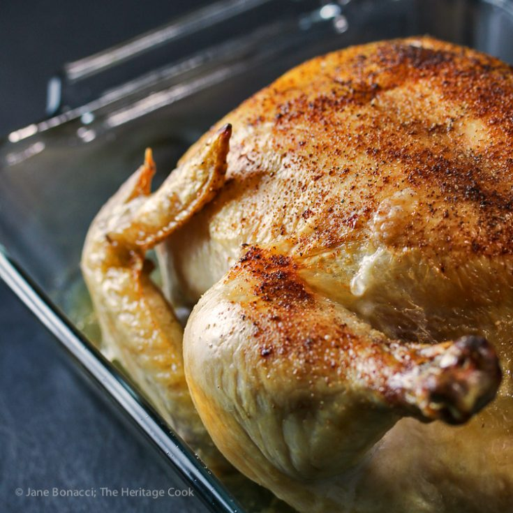 Grandma's Simple Roast Chicken; 2015 Jane Bonacci, The Heritage Cook