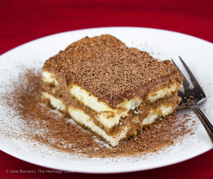 Gluten-Free Chocolate Tiramisu; © 2019 Jane Bonacci, The Heritage Cook