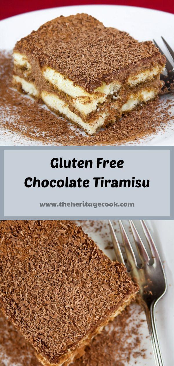 Gluten-Free Chocolate Tiramisu; © 2019 Jane Bonacci, The Heritage Cook